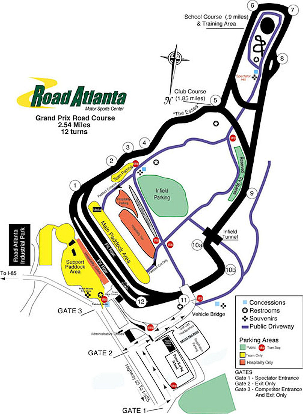 Road Atlanta Track Map