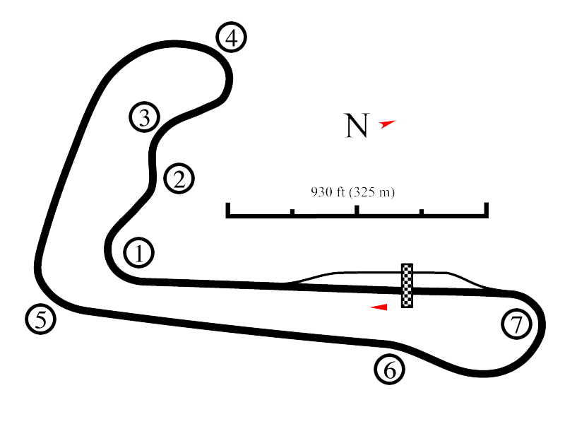 Summit Point Jefferson Track Map