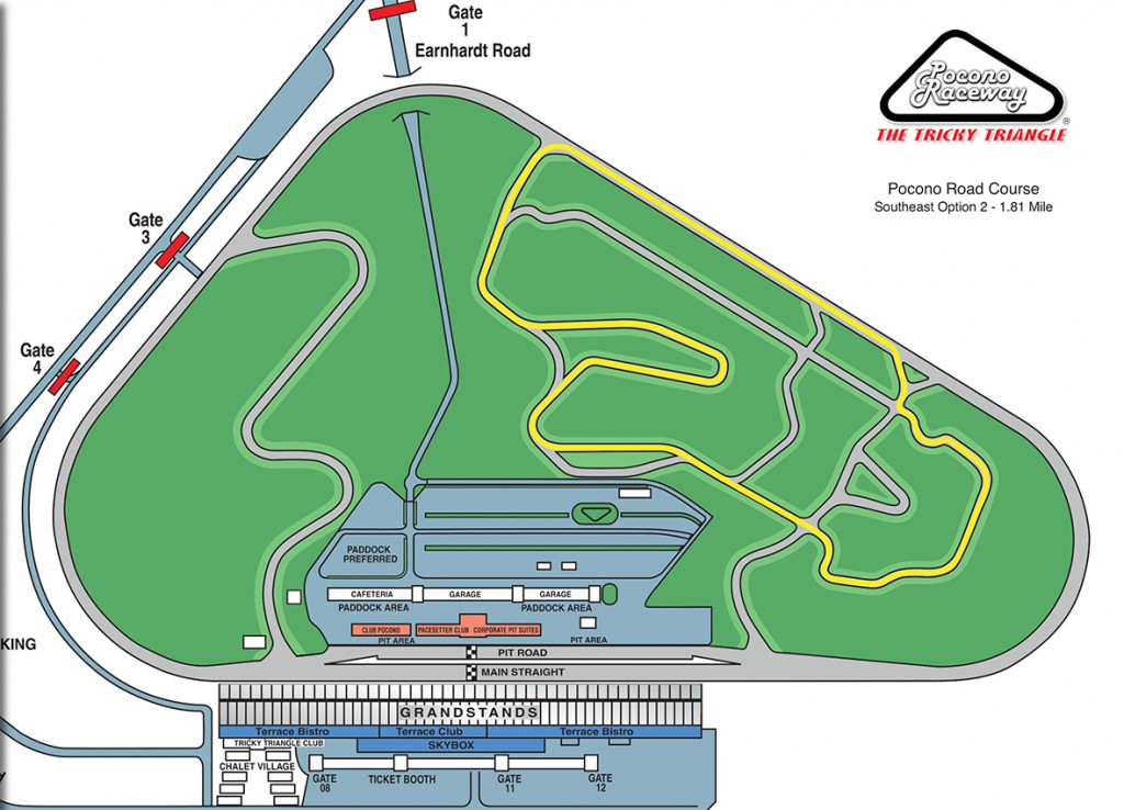 Pocono Road Course Interactive